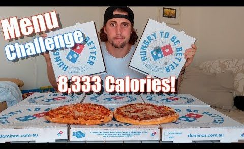 Dominos Value Menu Food Challenge! 8,333 Calories of Pizza