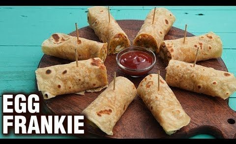 Egg Frankie Roll Recipe - How To Make Egg Stuffed Frankie - Easy Snack Recipe - Neha