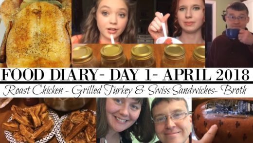 FOOD DIARY- APRIL 2018- DAY 1- Grilled Turkey & Swiss, Roast Chicken