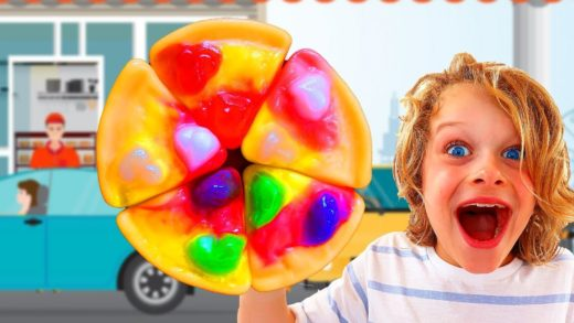 GUMMY PIZZA DRIVE THRU Pretend Play with Biggy Sabre & Naz from the Norris Nuts