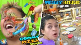 GUMMY PIZZA in MOMMY'S CLEAN HOUSE Joke FUNnel Vision Gummies Recycle Pt 2 Vlog
