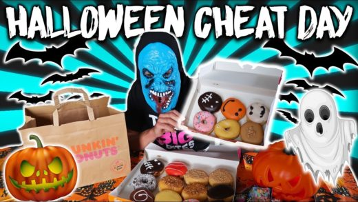 HALLOWEEN CHEAT DAY I 10,000+ CALORIES  OF DONUTS I TREATS I PIZZA