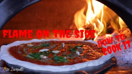 HOW TO COOK A PIZZA WITH FLAME ON THE SIDE