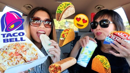 HUGE TACO BELL MUKBANG! (Cheesy Gordita Crunch, Mexican Pizza, Burritos) | Kim&Liz ASMR