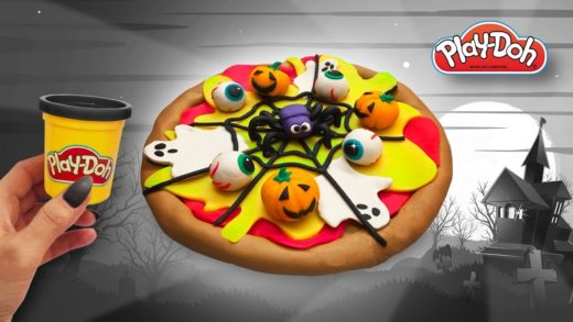 Halloween Pizza out of Play Doh. Crafts for Kids. Easy DIY Tutorial for Kids