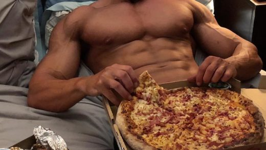 Happy hump day! Here is a photo with some abs accompanied with pizza and wings.                ...