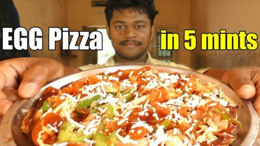 Homemade Egga Pizza with out Oven in 5mints || How To Make Pizza At Home