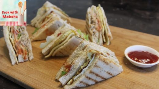 How to Make Chicken Club Sandwiches - Club Sandwich Recipe by Cook with Madeeha