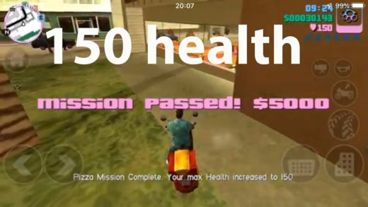 How to get 50% extra health with Pizza Boy mission - GTA Vice City