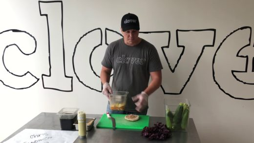 How to make Clover Food Lab's Zucchini Sandwich