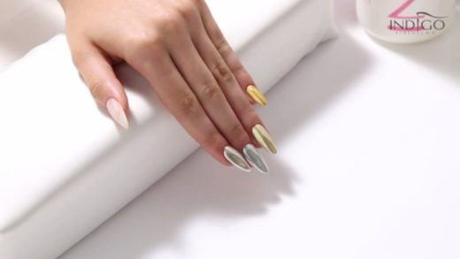 How to make chrome nails? :: Metal Manix Collection :: Efekt lustra step by step PL/ENG