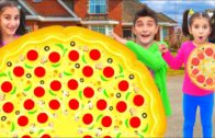 FOODporn.pl Kids Pretend Play with Giant Pizza Fast Food Drive Thru Food Toys by Color For Baby