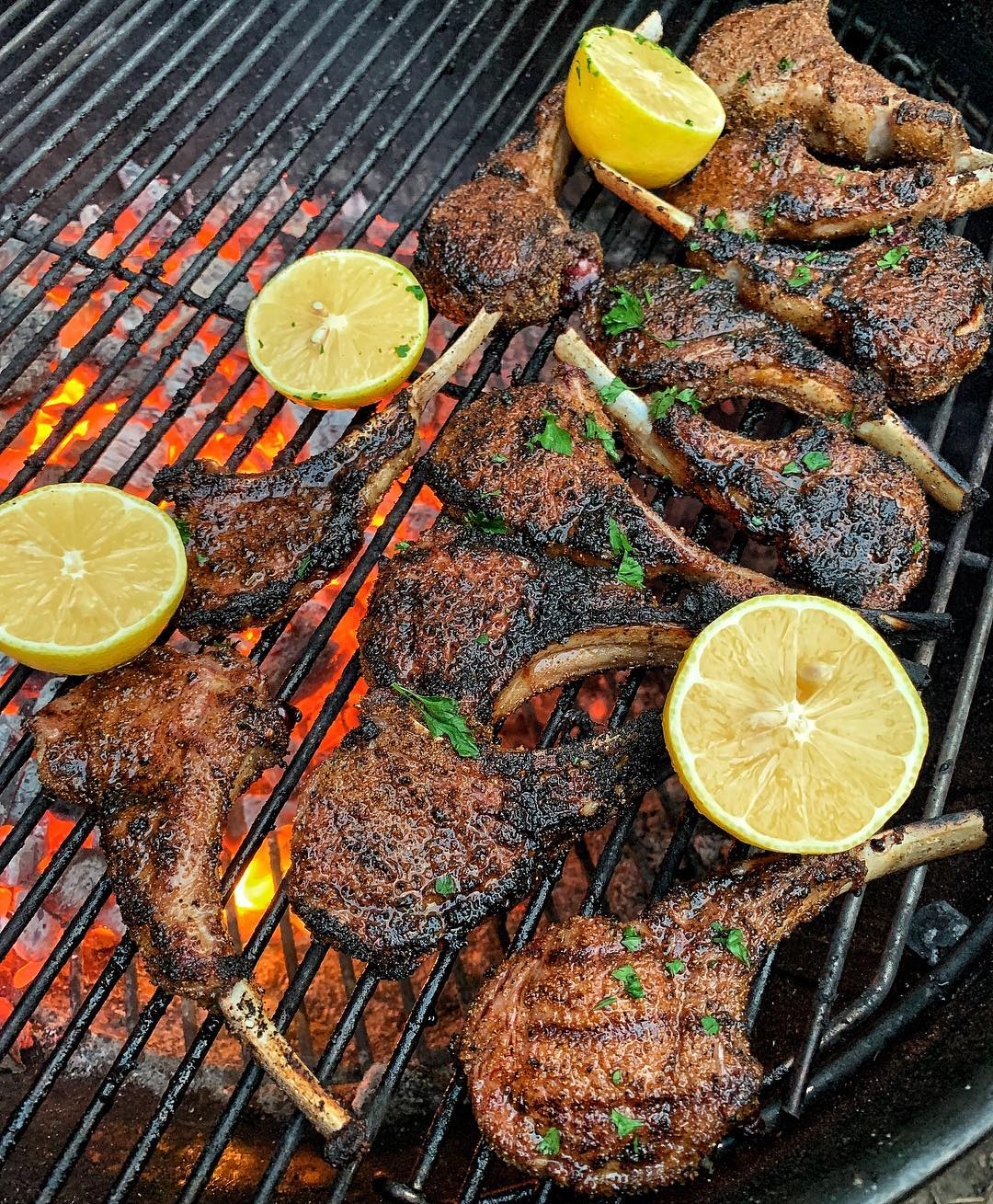 Lamb chops with my  Chipotle Garlic rub from  Squeeze that lemon on top and we are in lamb heaven    Credit: :                ...