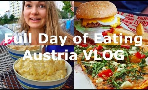 Lea goes Austria VLOG - Full day of eating - Burger, Pizza & Foodporn