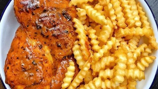 Life is too short for boring fries and chicken! If your favourite restaurant doesn't serve fries and chicken like this, then change them!           ...