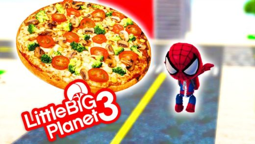 LittleBigPlanet 3 - Spiderman - Pizza Mission (3D) - PS4 Gameplay