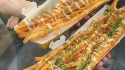 Longest fries on planet  - Follow  for more  - By   - -                              ...