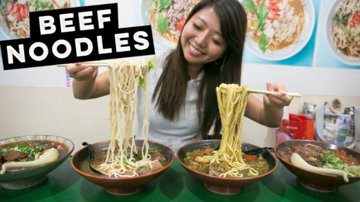 MASSIVE Taiwanese Beef Noodle Soups in Taipei, Taiwan - 4 FLAVORS!