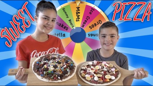 Mystery Wheel of Pizza Challenge - Sweet Edition! | Grace's Room