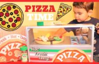 FOODporn.pl PIZZA PARTY FUN!!!! Melissa and Doug Top and Bake Wooden Pizza Counter Unboxing!!!