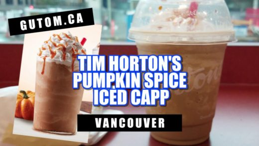 PUMPKIN SPICE ICED CAPP FOR HALLOWEEN AT TIM HORTON'S | Vancouver Food Reviews - Gutom.ca
