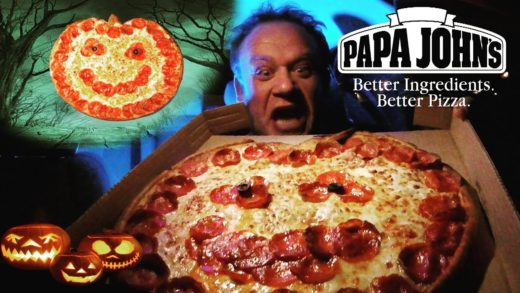 Papa John's NEW! ☆Jack O'Lantern PUMPKIN Pizza☆ Food Review!!!