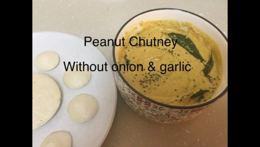 Peanut Chutney without onion & garlic