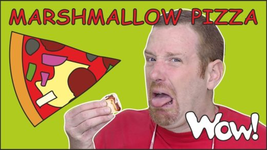 Perfect Marshmallow Pizza Story from Steve and Maggie NEW   Food for Kids Stories   Wow English TV