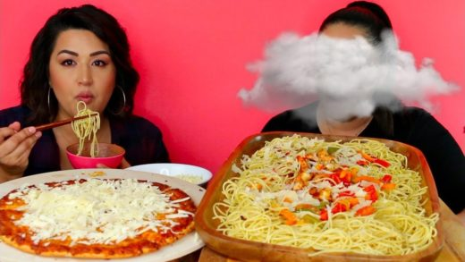 Pizza and Pasta Mukbang |Lil Cloud Chronicles: How she makes $$