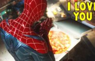 FOODporn.pl Pizza and Spider-Man Love Story -The Heist DLC Black Cat- Spider-Man PS4