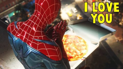 Pizza and Spider-Man Love Story -The Heist DLC Black Cat- Spider-Man PS4