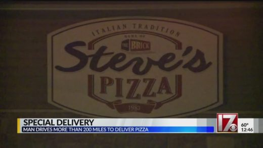 Pizza shop makes surprise delivery to terminally ill man 225 miles away