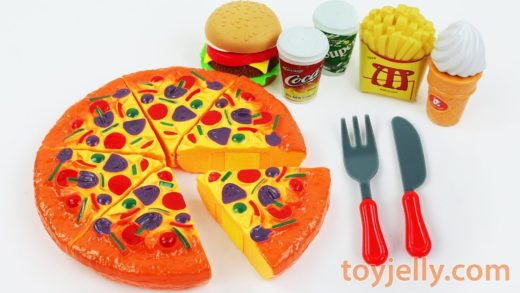 Play Doh Oven Toy Velcro Cutting Pizza Learn Fruits & Vegetables Kinder Surprise Eggs Kinder Joy