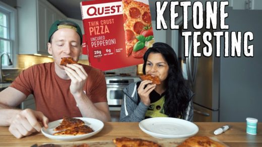Quest Pizza Review + Ketone Testing   Full Day of Keto Eating