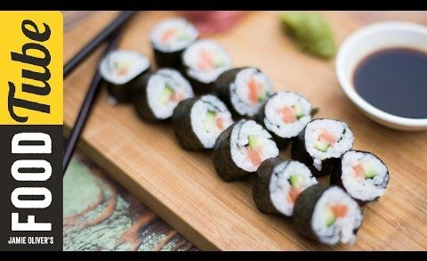 Simple Salmon Sushi | Food Busker & Haste's Kitchen