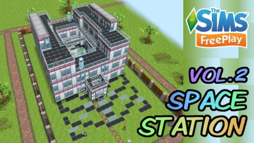 Sims FreePlay - Space Station House Design