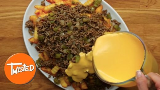 Sloppy Joe Cheesesteak Fries Recipe | How To Make Loaded Fries | Twisted