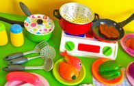 FOODporn.pl Soup cooking kitchen toy vegetables stove pots pans frying pan learn cooking colors shapes