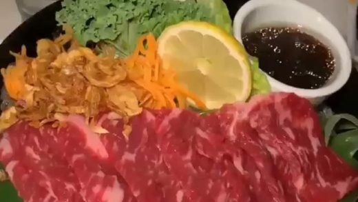 Stone cooked Wagyu beef!  Follow me  if you love food! Credit:                                ...