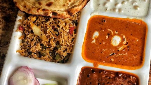 Such lunch Goals  Veg Pulao, Shahi Panner, Dal Makhani along with Raita and Paratha . . Khurana Restaurant . . . .  . . Snapchat  : Foodiesince96  Follow Foodiesince96 for more updates...