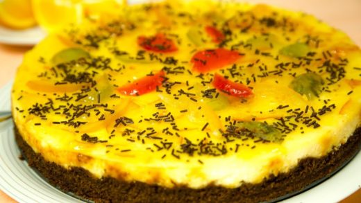 TARTA DE QUESO Y NARANJA. ORANGE CHEESECAKE.