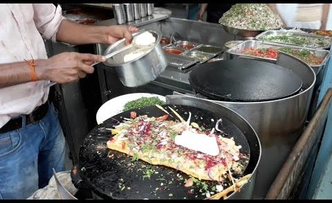 The KING of SANDWICHES   NO EGGS Omelette   Besan Pudla Sandwich   Indian Street Food