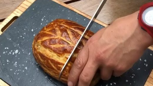 The perfect beef Wellington served in  restaurant  fillet of beef wrapped in mushroom duxelles with mustard and truffle and then wrapped in pastry. Perfection.              ...