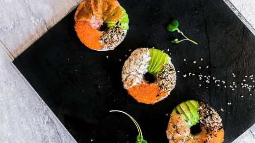 These Aburi Sushi Donuts are too cute to eat and they're so good you might want to order a dozen of it haha! They have the Salmon on Fire  Tuna Lover and Scallop Mayo! . . . . . . .               ...