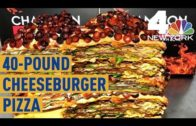 FOODporn.pl This 40-Pound Cheeseburger Pizza at Champion Pizza Will Set You Back $2,000