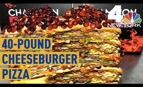 This 40-Pound Cheeseburger Pizza at Champion Pizza Will Set You Back $2,000