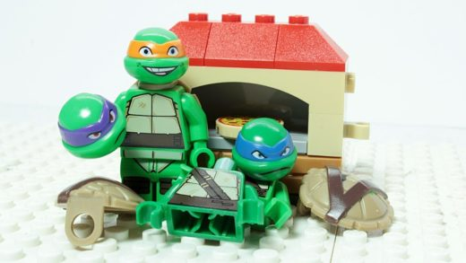 Turtles Brick Building Pizza Oven and Figures Superhero Cartoon for Kids