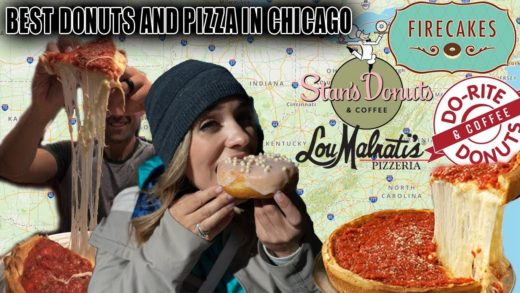 US Roadtrip - Chicago - Finding the Best Pizza and Donuts in Chicago - Full Day of Eating