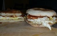 FOODporn.pl VERY CRISPY English Muffin Fried Egg & Cheese Sandwiches Recipe – Cindys Kitchen