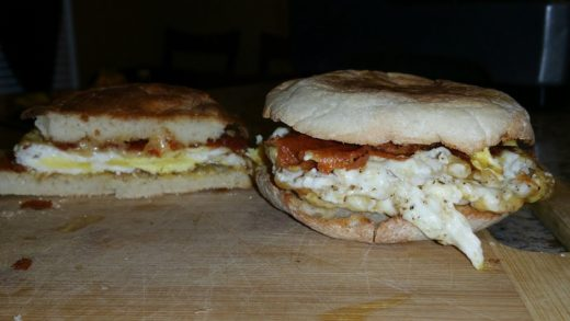 VERY CRISPY English Muffin Fried Egg & Cheese Sandwiches Recipe - Cindys Kitchen